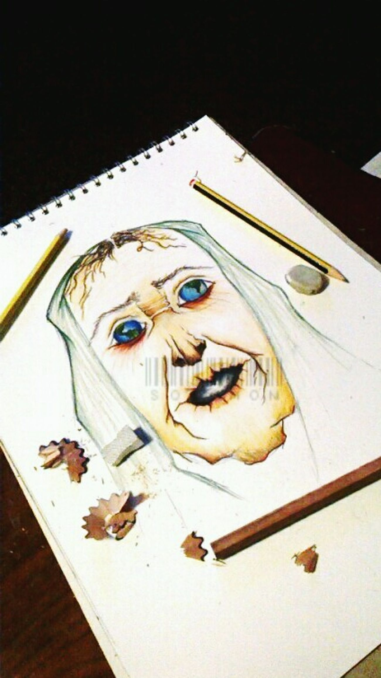 """mother nature""- unfinished Selftaughtartist Surrealism Photooftheday Watercolourpencils"