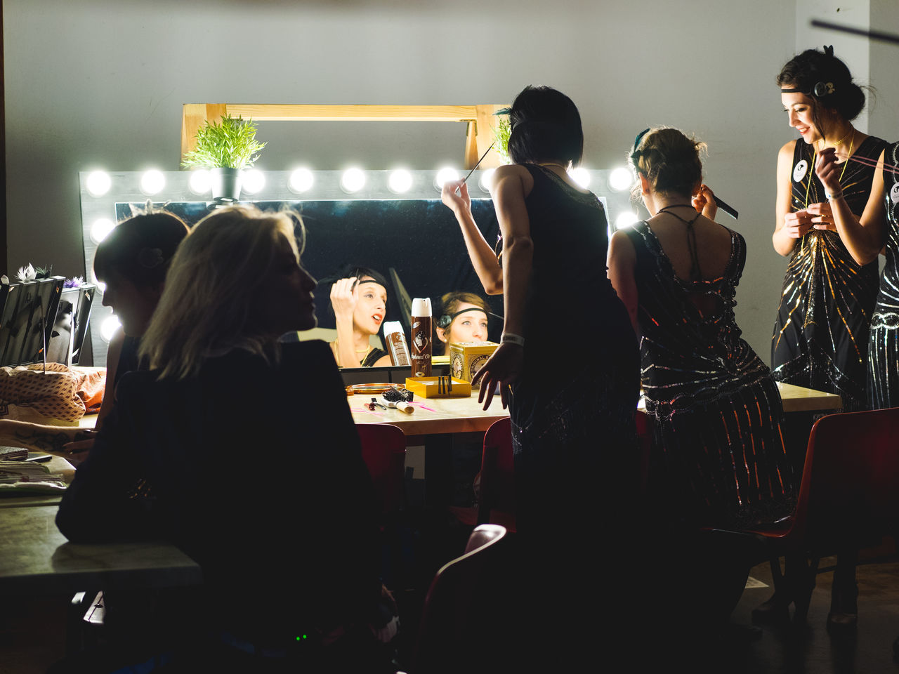 Make up at the party Bar - Drink Establishment Bar Counter Dance Females Friendship Group Of People Indoors  Makeup Meeting Night Nightlife Occupation People Real People Small Business Swing Vintage Women Young Adult Women Around The World