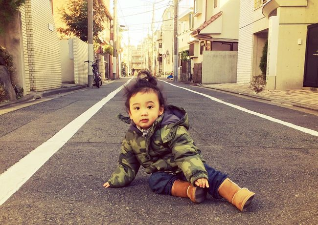 Toddlerlife Winter Fashion Kid Childhood Children Photography Portrait On The Road