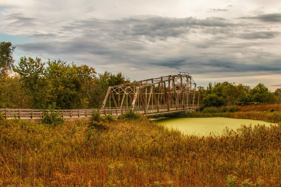 Bridge - Man Made Structure Cloud - Sky Tranquil Scene Nature Scenics Tranquility Beauty In Nature Enjoying Life Early Fall Leisure Activity Outdoors Finding New Frontiers