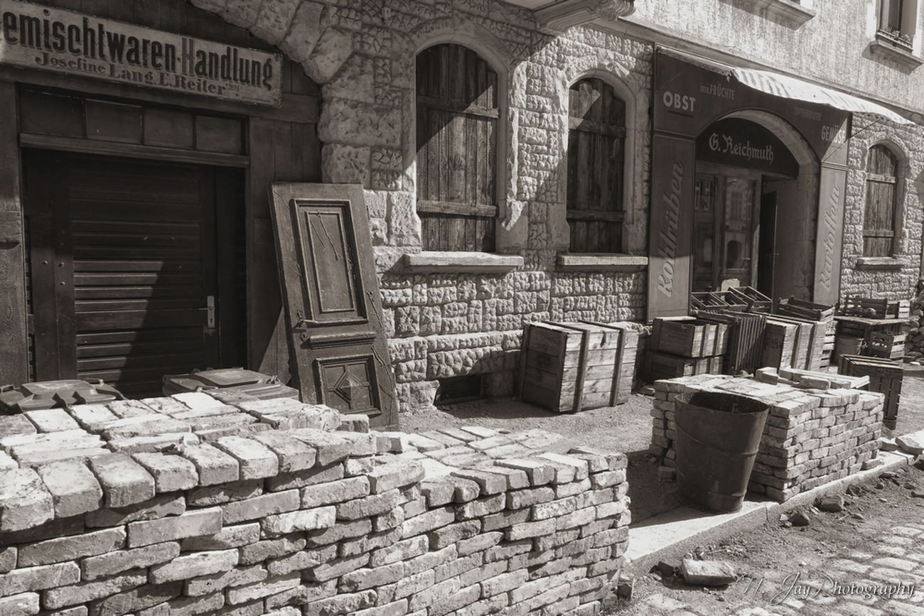 Street Streetphotography Sepia Germany History Postwar  Brick Architecture Architectural Detail Houses Debris Stones Shop Old Old Buildings Architecture_collection Built Structure Det Windows EyeEm Masterclass Eye4photography  HuaweiP9 Door Stacked Movieset