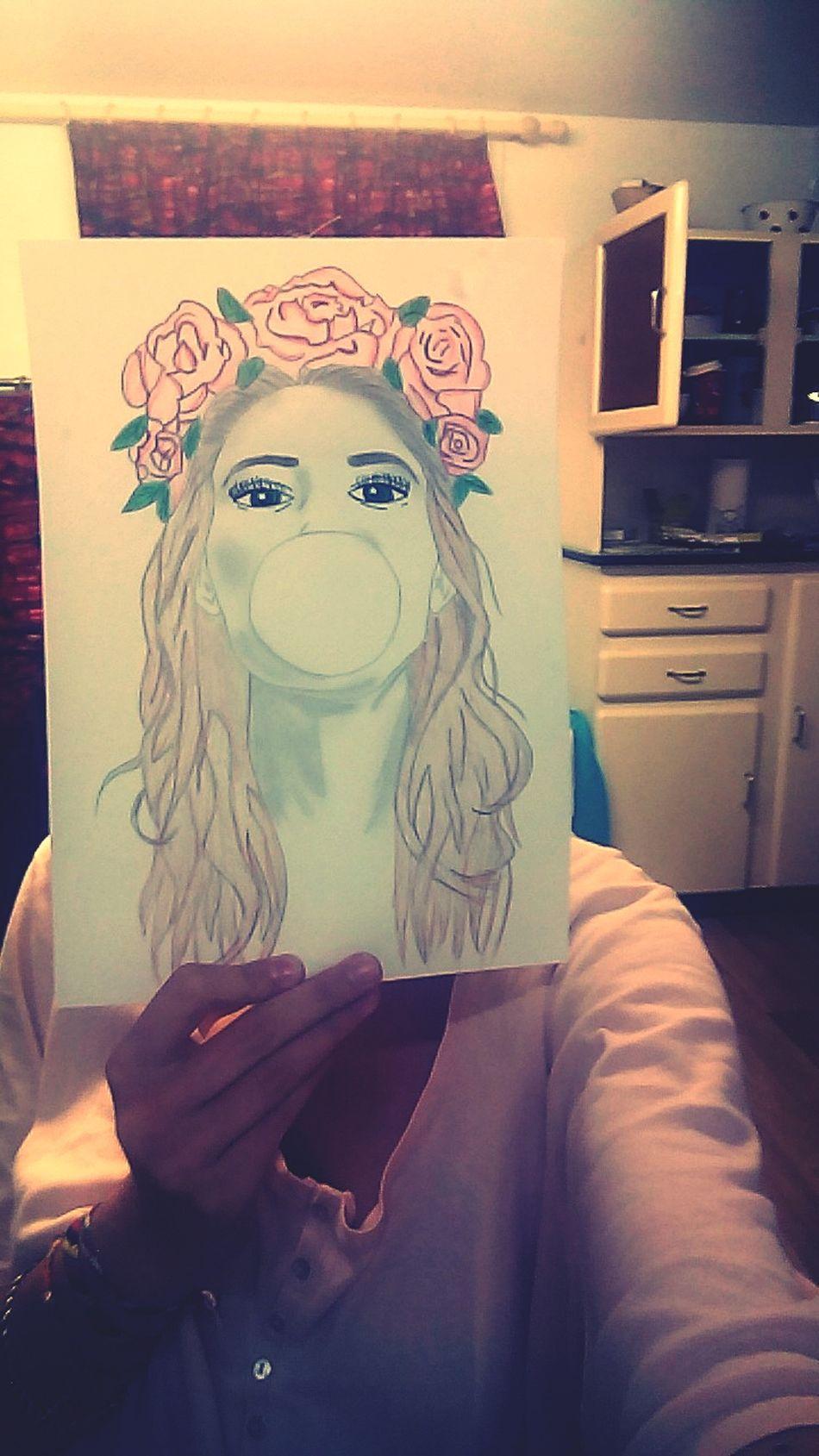 Portrait Drawing Me On s'détend.
