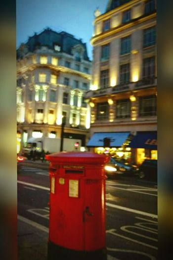 LONDON❤ Mailbox Red Color Night City Oxford St Londoner