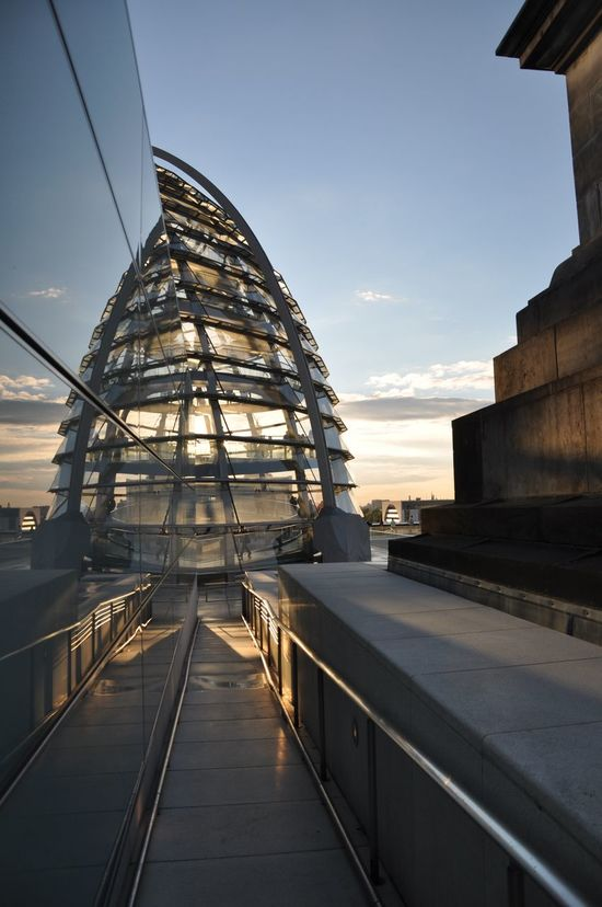 Reflected Sunset Architecture City Day No People Outdoors Reflection Reichstag Reichstagskuppel Sunset