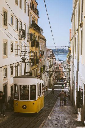 City Lisbon Outdoors Street Tramway