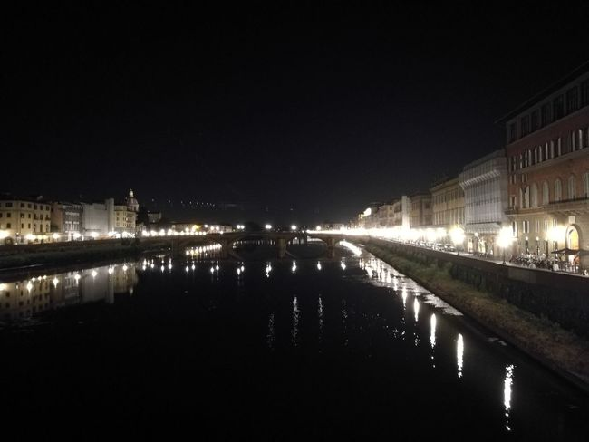 Architecture Arno  Building Exterior Built Structure City Florence By Night Florence Italy Sky