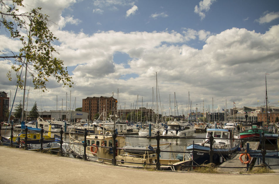 Cloud - Sky Day Harbor Hull 2017 Hull City Of Culture 2017 Hull Marina Mast Mode Of Transport Moored Nature Nautical Vessel No People Outdoors Sailboat Sky Transportation Travel Destinations Tree Water Yacht Yachting