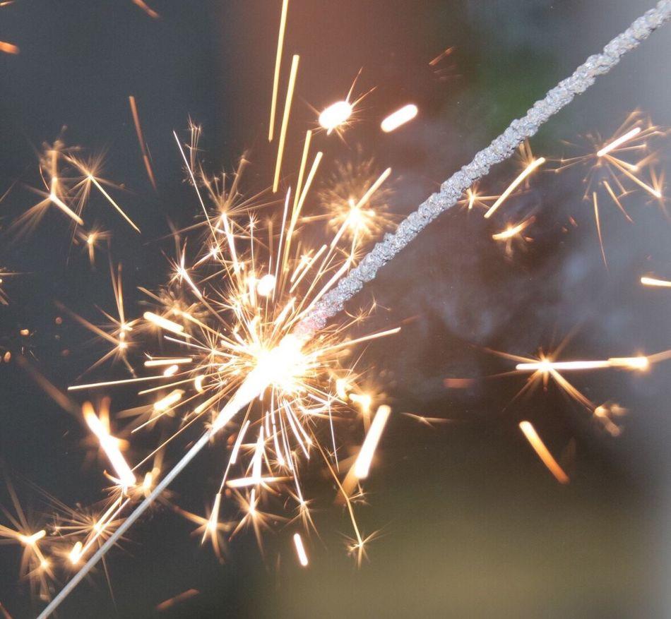 Wunderkerze Sylvester Feuer Fireworks Fire Celebration