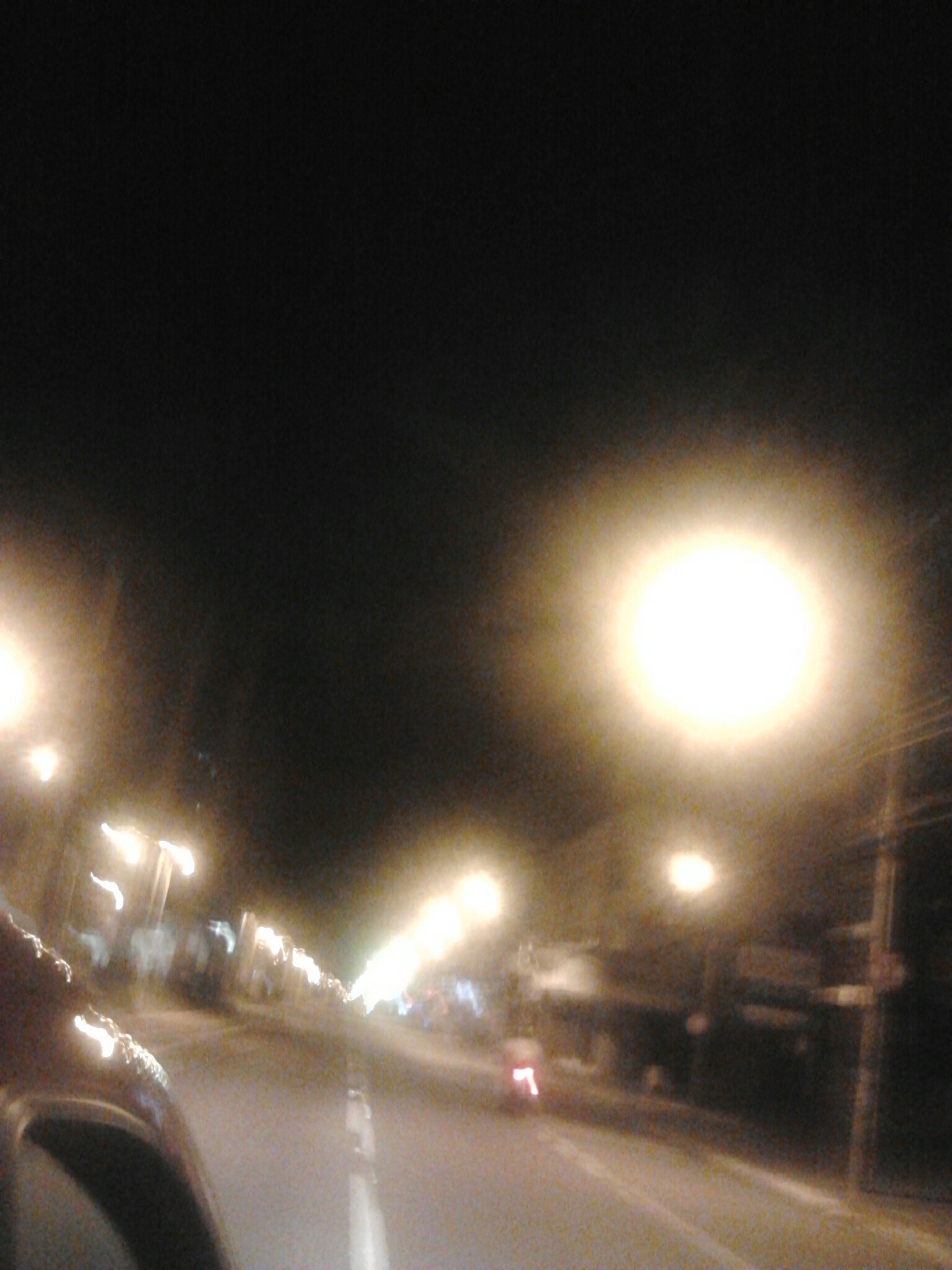 illuminated, night, street light, transportation, no people, sky, road, outdoors