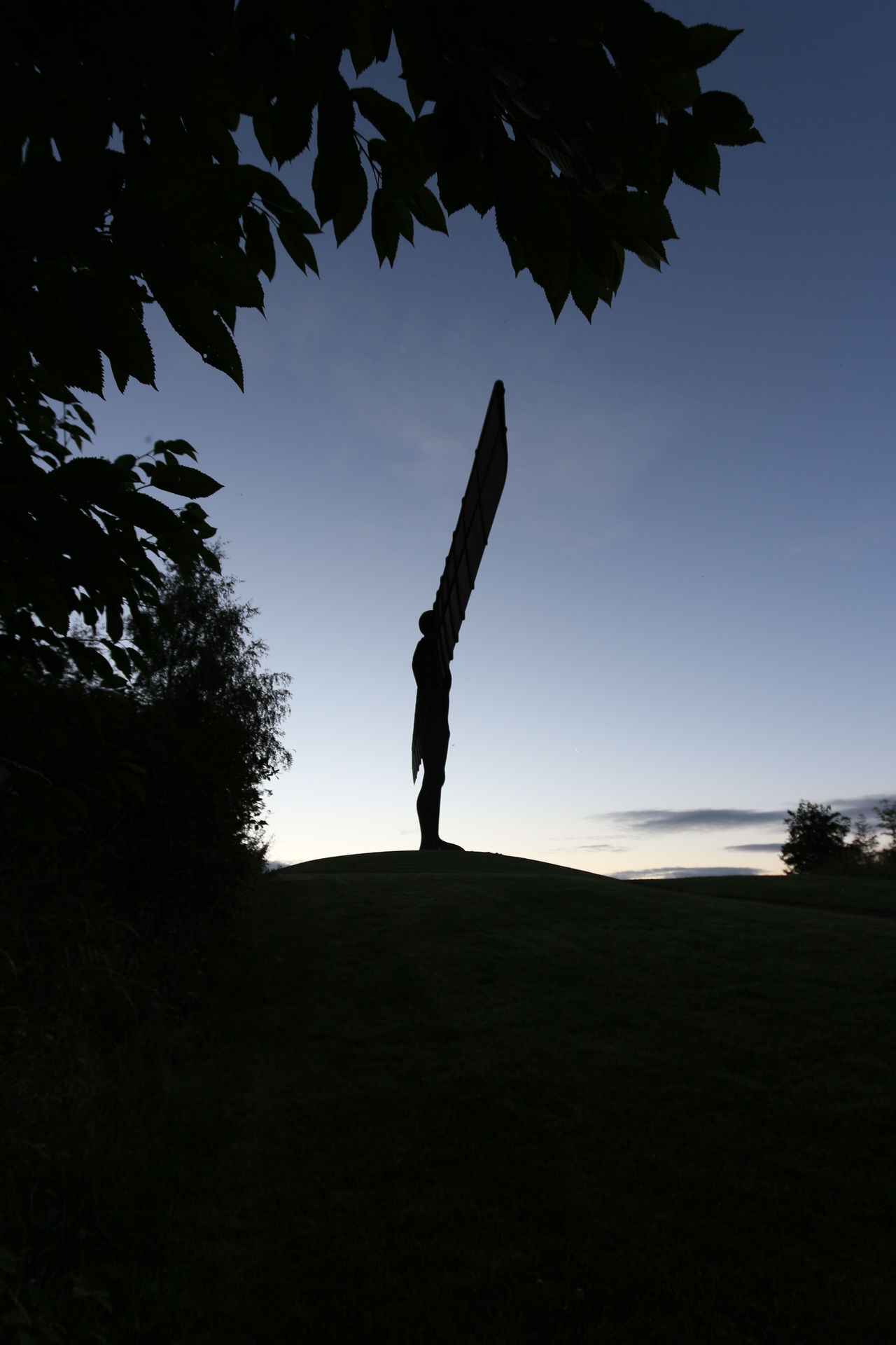 Silhouette Outdoors Sky Full Length Angel Wings Angel Sunrise Angel Of The North