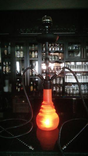 Illuminated Night Orange Cachimba  Shisha ❤ Shisha Time Led Lights  Barra Bar - Drink Establishment