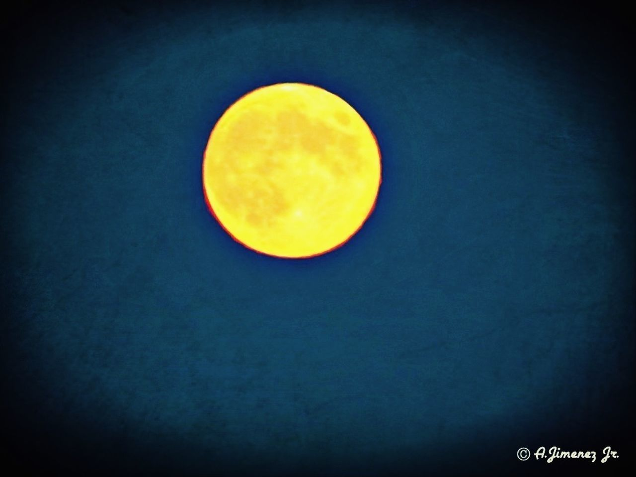 moon, circle, astronomy, no people, night, vignette, yellow, clear sky, blue, beauty in nature, nature, sky, outdoors, space