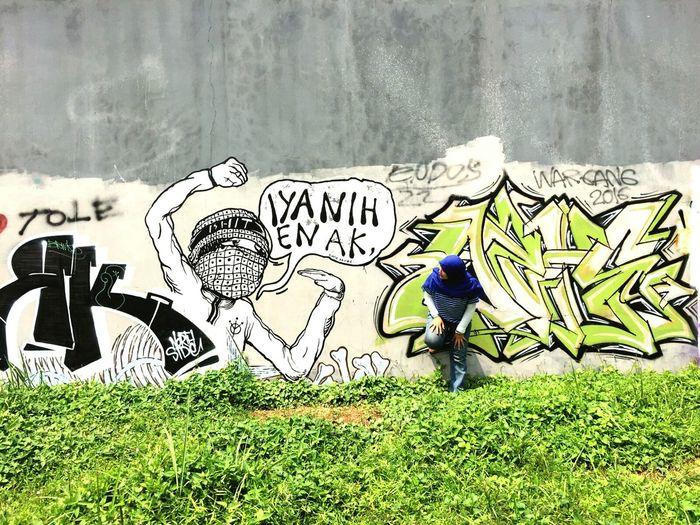 Mural always amazed JustMe Street Art Tangsel Bsdcity Weekend Getaway Graffiti Wall