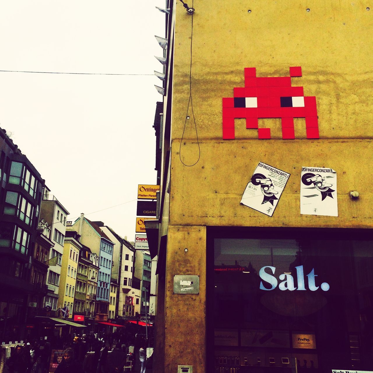 Space Invaders Street Art Basel, Switzerland Building Exterior Architecture Built Structure Low Angle View Text City No People Day Outdoors EyeEmNewHere