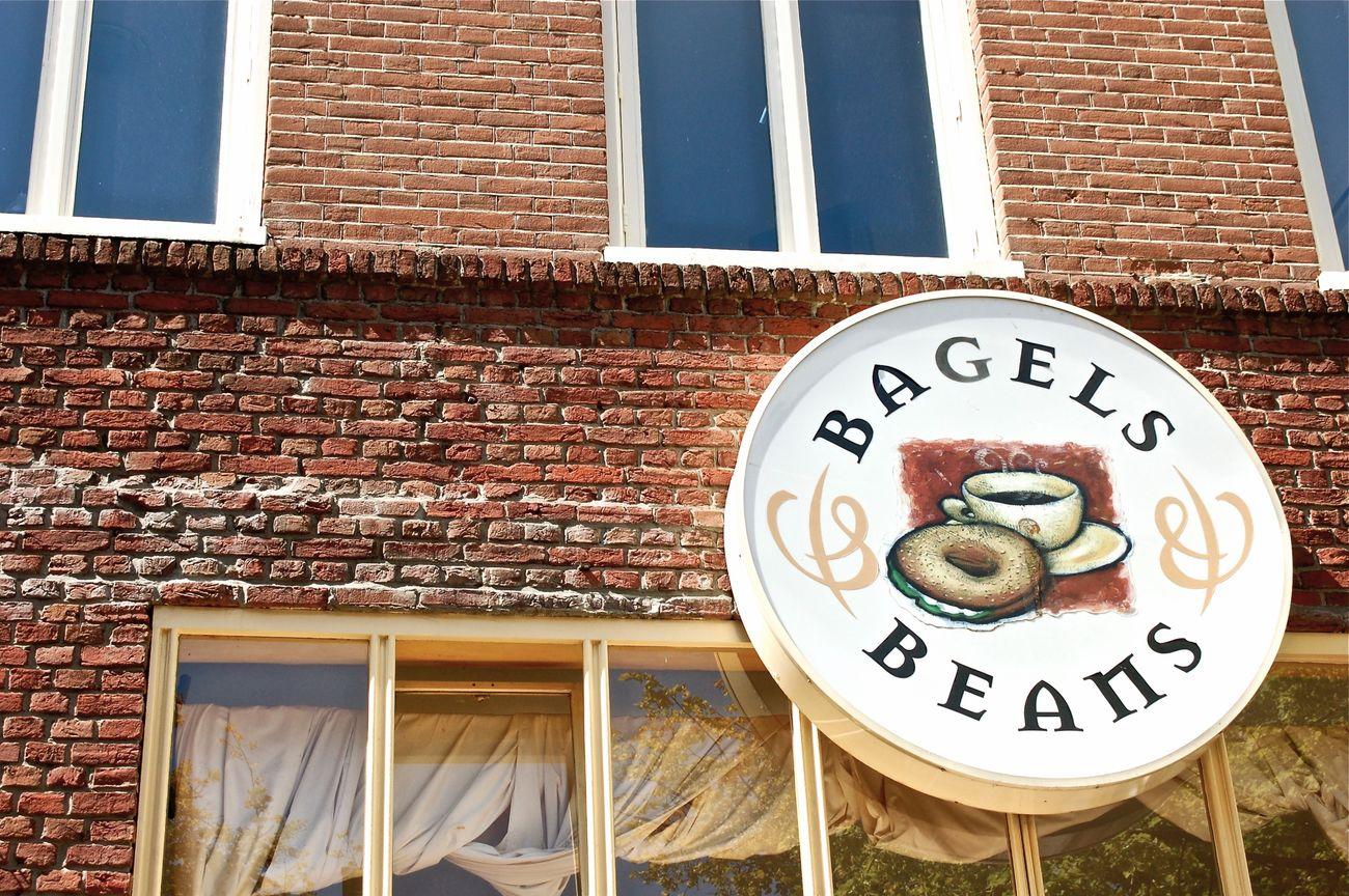 Bagels & Beans-Amsterdam, Netherlands, 2012 Bagels&beans Bagels Brick Wall Redbricks Bricks Amsterdam Amsterdamcity Nederland Netherlands Wall Windows
