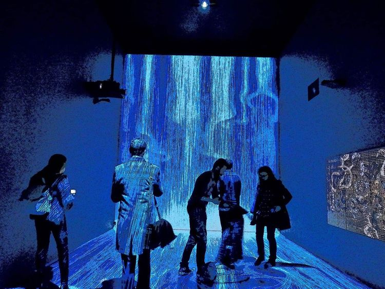 TeamLab London Pacegallery People Standing Exhibition Interesting Art Inspirations