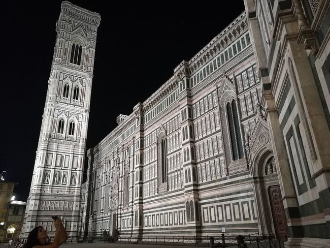 Architecture Building Exterior Built Structure Campanile City Duomo Di Firenze Florence By Night Florence Cathedral Florence Italy Giotto Sky