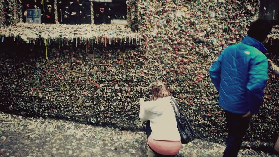 Contributing to the Wall Of Gum in Seattle Foodporn Gum Art ArtWork Panty Sexygirl