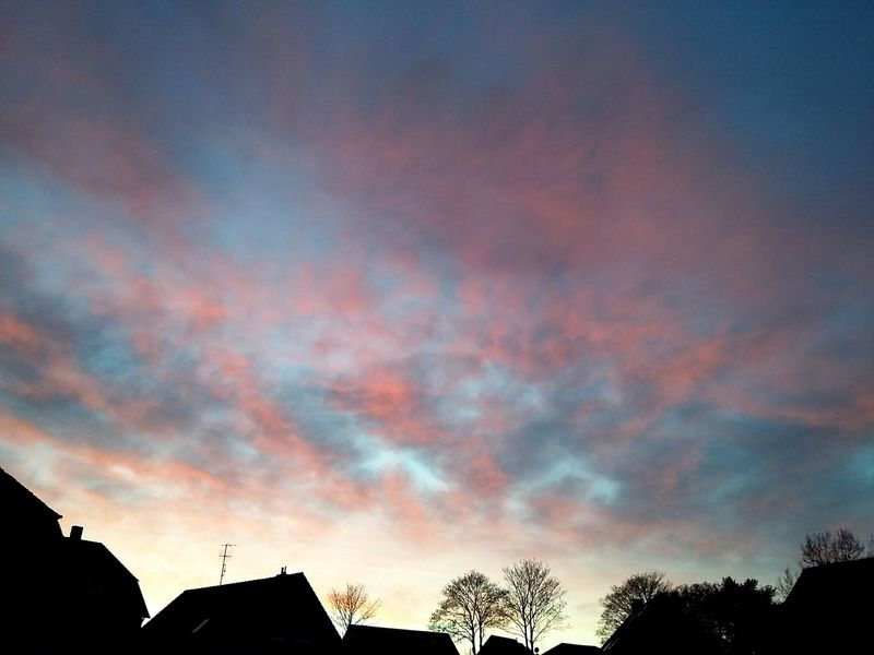 red sky over varel. · germany friesland Frisia sky porn clouds and sky blood sky Cloud Porn red and blue urban landscape Silhouette light and shadow beauty in Nature Check this out