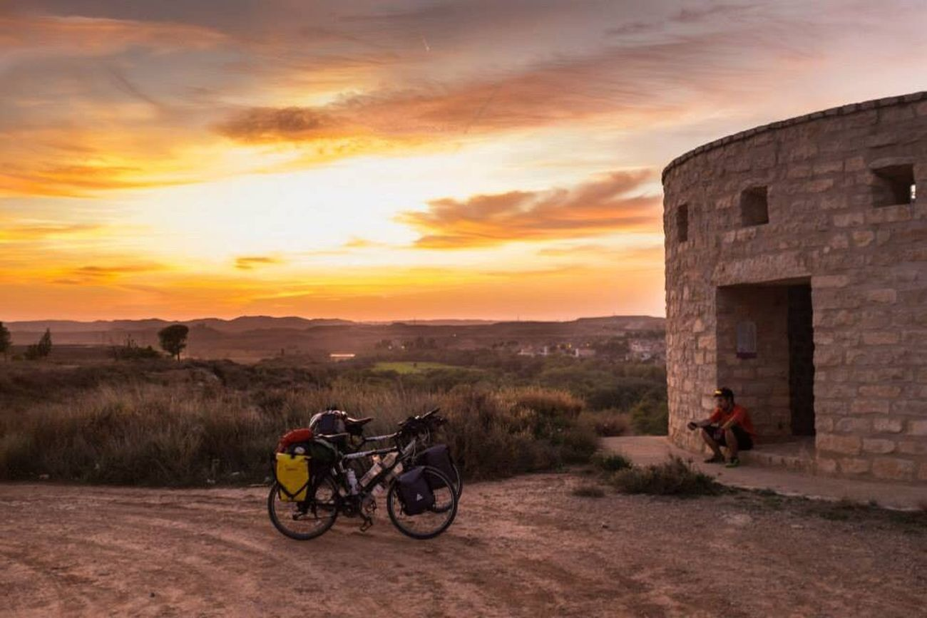 Bicycle touring through Europe was the best thing I have ever done in my life. This was a tower in Spain we slept in. Sunset Sky Landscape Outdoors Adventure Bicycle Trip Bike Tour SPAIN Europe