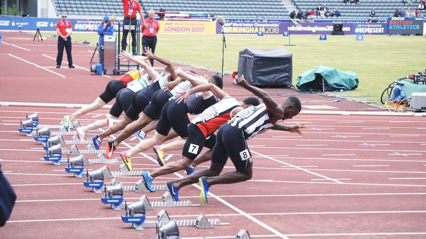 Competition Sport Sports Track Running Track And Field Running Track Athlete Sports Race Track And Field Athlete Track Event Large Group Of People Track Starting Block Men's Track Only Men Adult Spectator Track And Field Event GB Champs Competitive Sport Stadium Sportsman