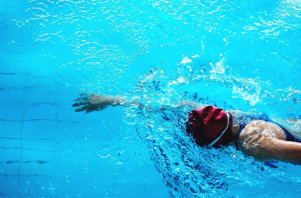 Swinging Swimming Pool Pool Blue