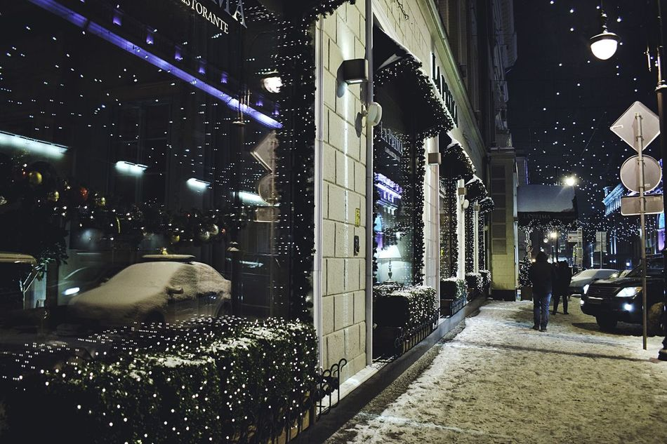 Christmas streets Illuminated Night City Building Exterior Architecture People Outdoors Streetphotography City Street Street Travel Destinations Nightphotography Night Lights Reflection Decoration Christmas Decoration Cold Temperature Christmas Around The World