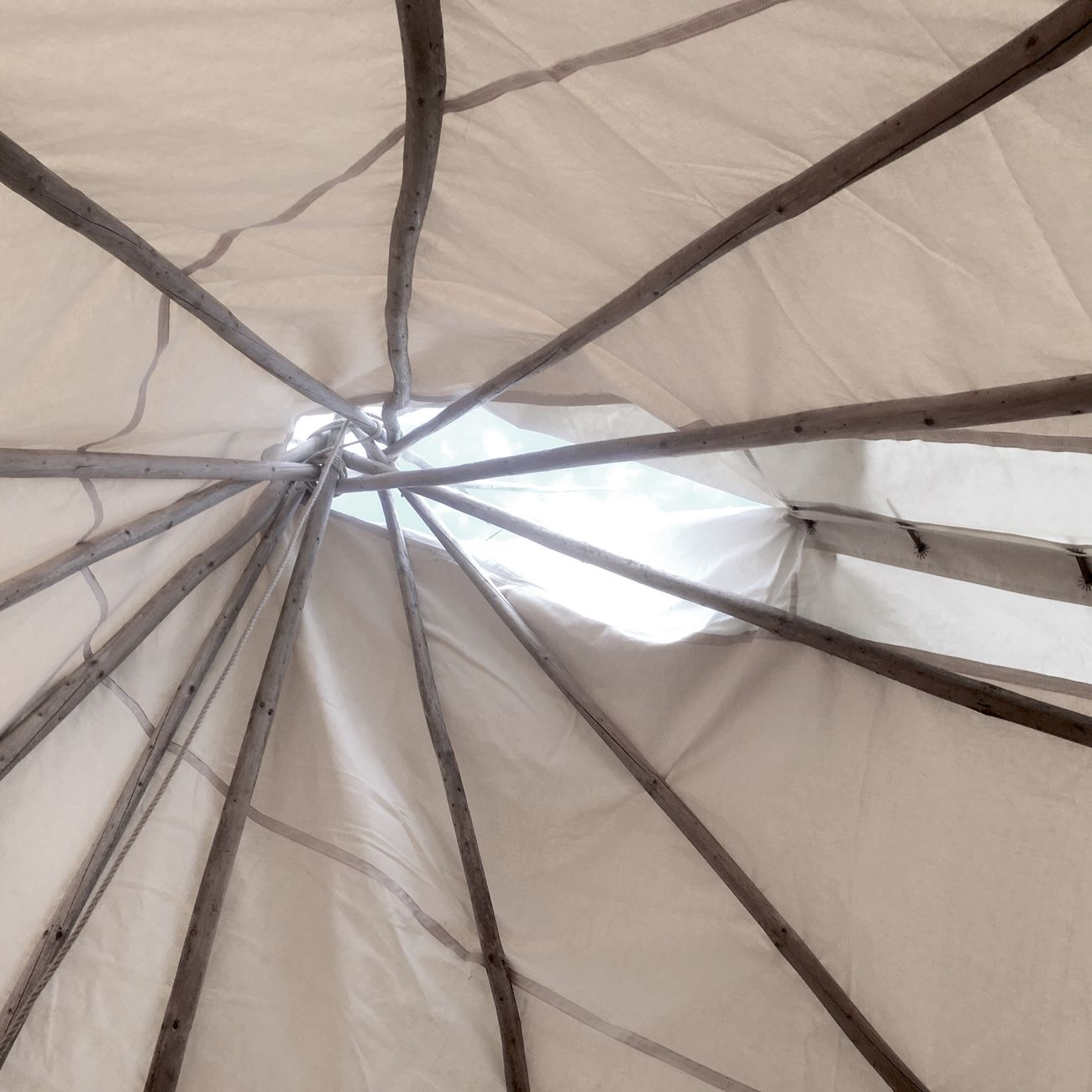View from inside a tepee