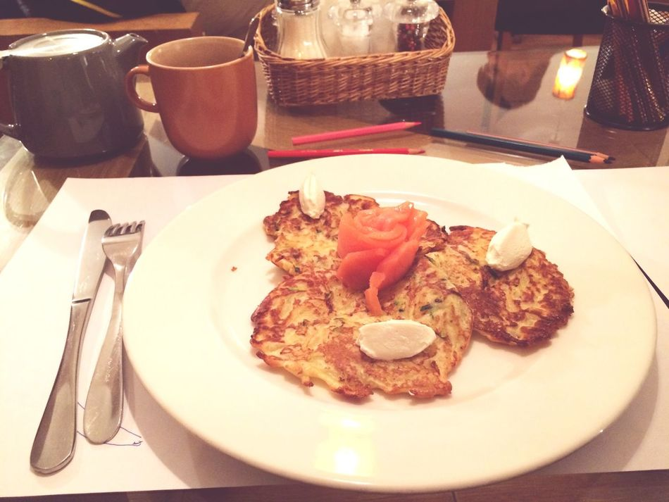 Potatoes Pancakes Salmon Russian Speciality Rose🌹 Delicious