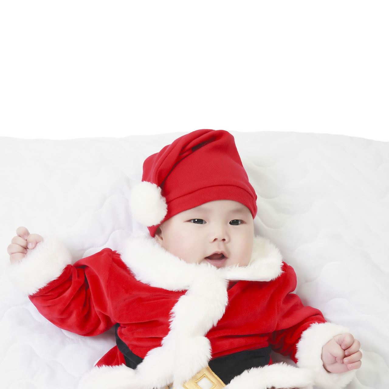 Beautiful stock photos of santa claus,  2-5 Months,  Babies Only,  Baby,  Baby Girls