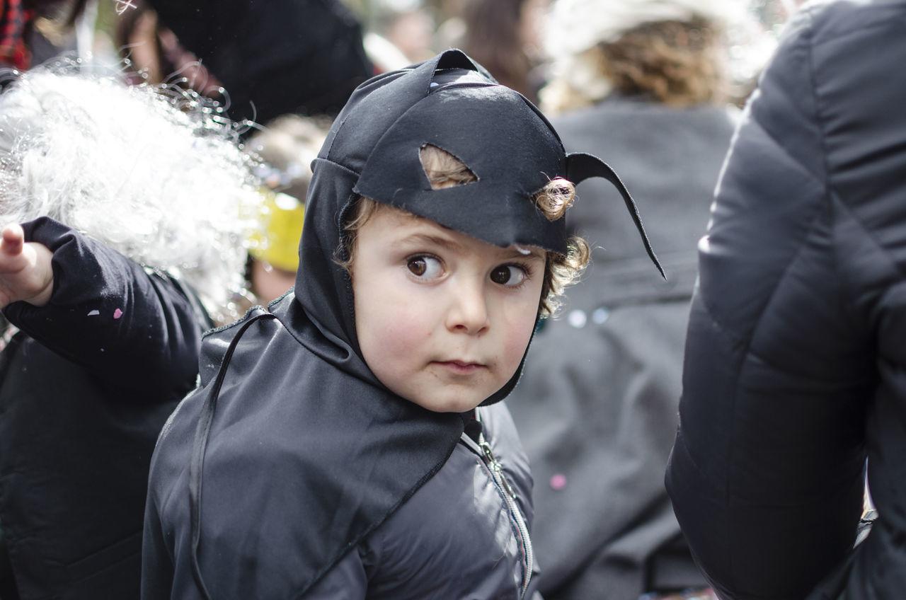 Adult Batman Boys Carnival Child Cute Headwear Mask Masquerade Outdoors People Portrait
