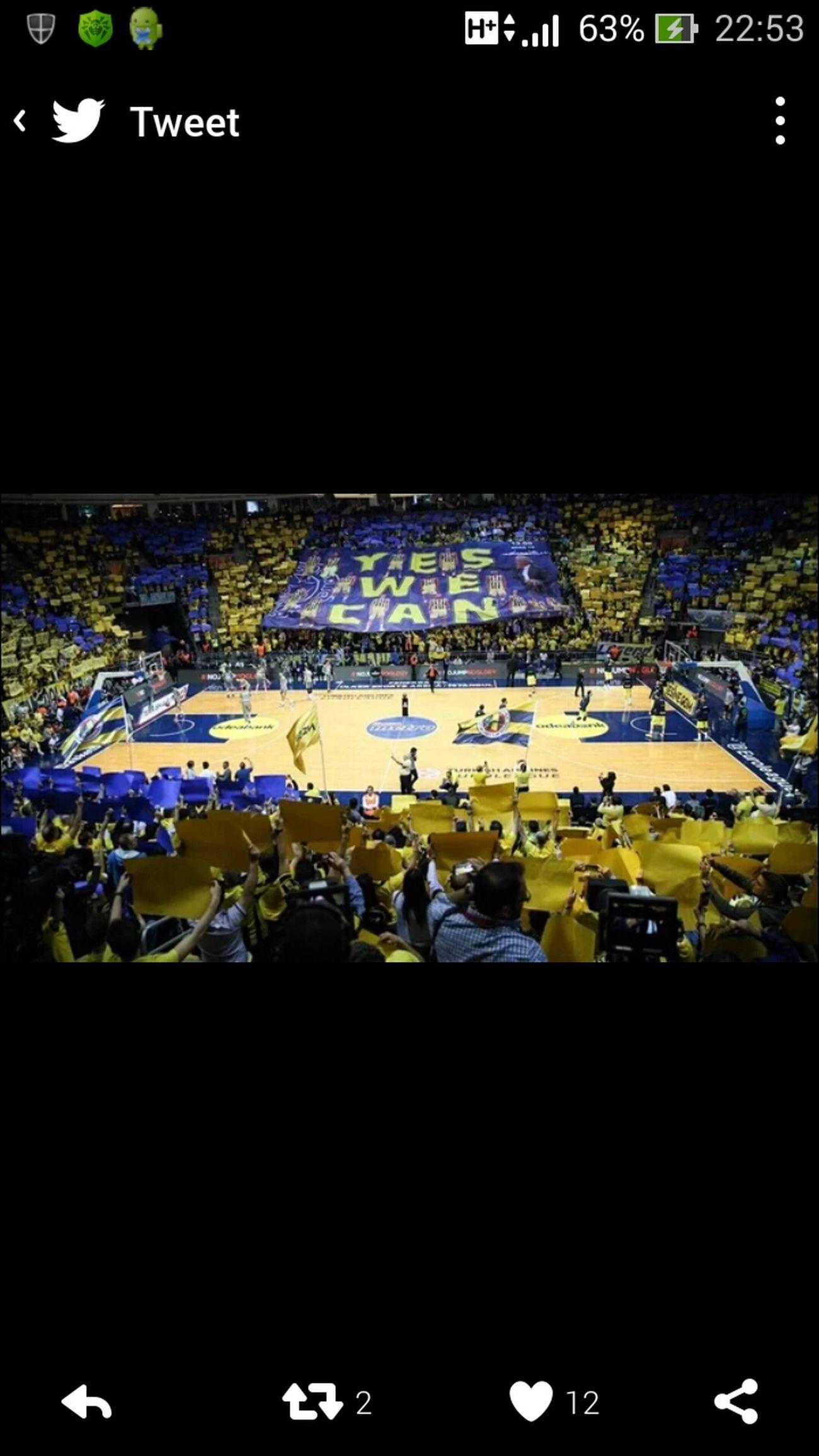 Fenerbahce 100 - 78 Real Madrid Euroleague Basketball Top8 Roadtoberlin Fenerbahce  Fenerbahçe SK ülkersportsarena Realmadrid Supporters Fenerbahcem Fenerbahçe♡