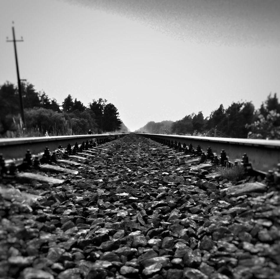 Railway B&w Mobil Photo Roud Trian First Eyeem Photo