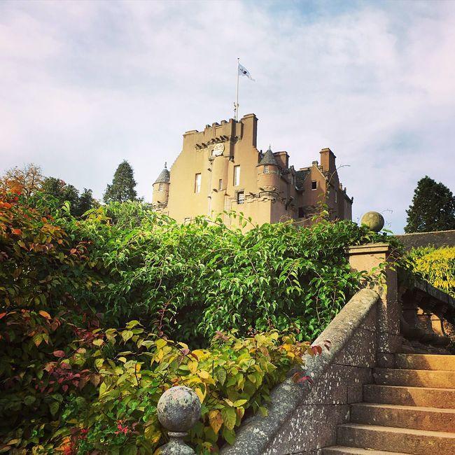 Castle Scotland Blue Skies Countryside Crathes Castle Aberdeenshire