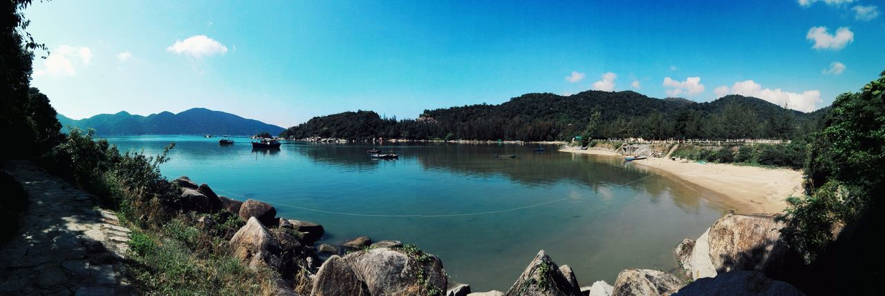 Panorama VungRôBay Reflection Landscape Blue Water Tree Nature Outdoors Sky No People Mountain Beauty In Nature Day