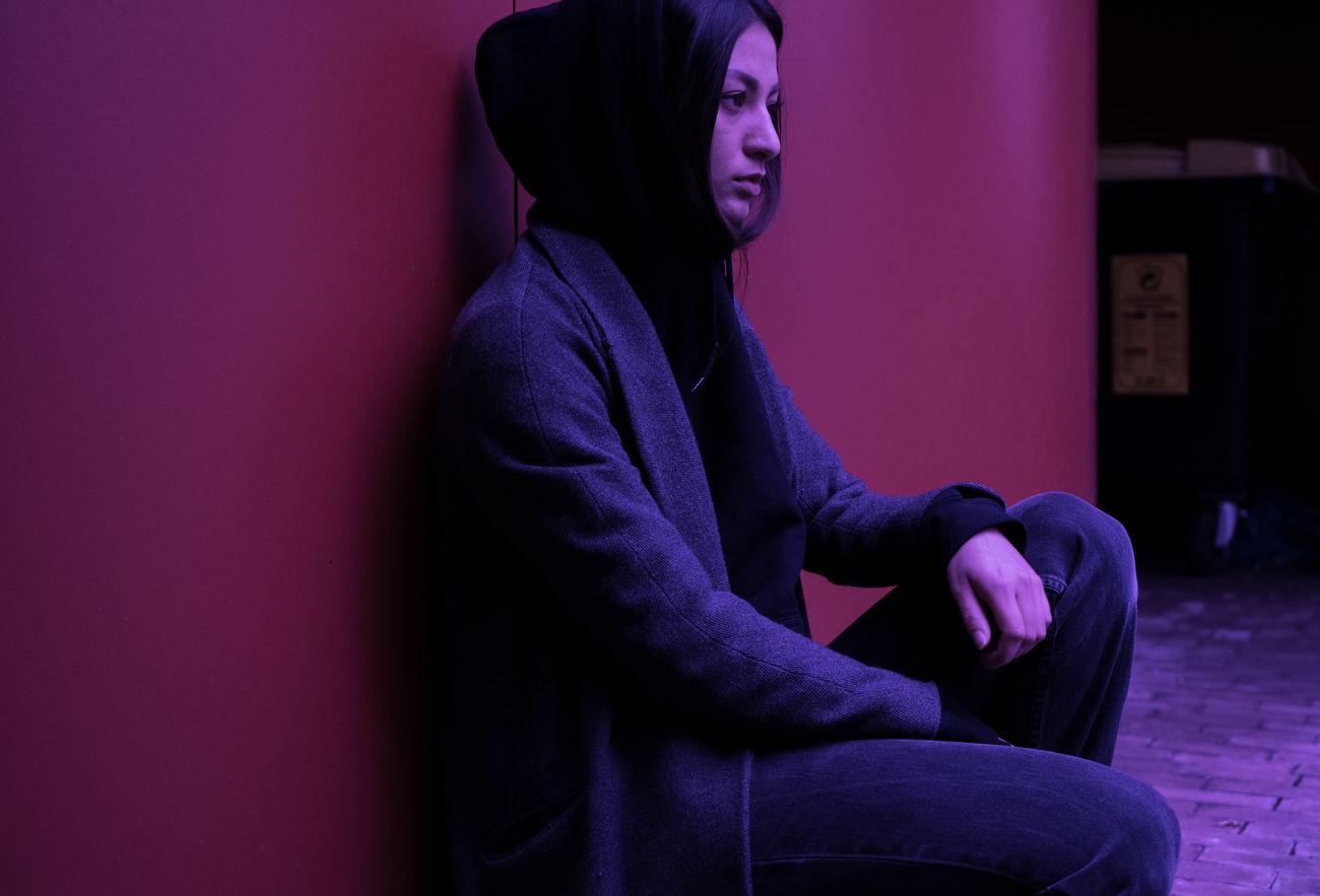 MARISSA LEE 0711 Adults Only Constantinschiller Herrschiller Human Body Part One Person One Woman Only Only Women Purple Schillergirls Side View Sitting Stuttgart Young Adult