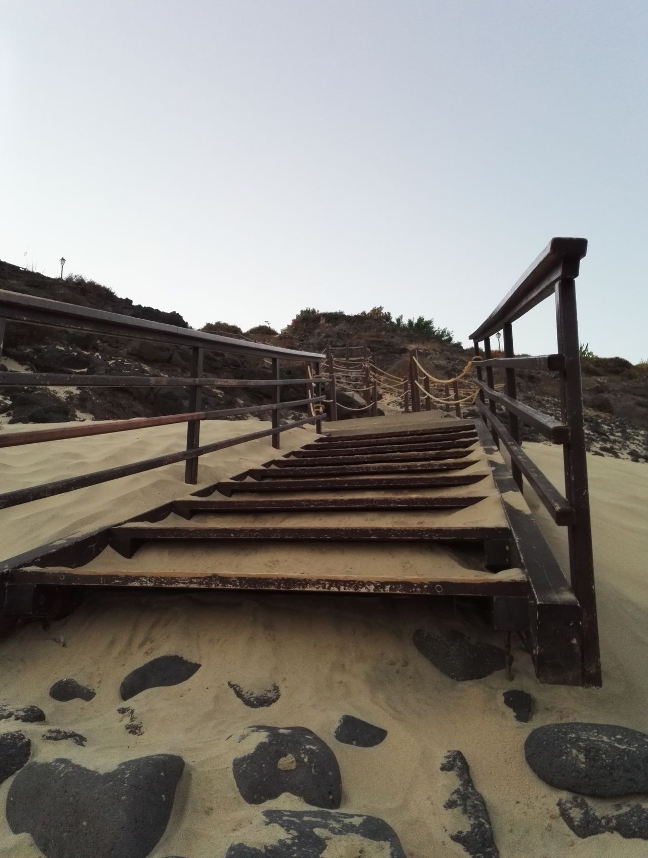 Clear Sky Outdoors Sky No People Nature Day Tranquility Vacation NewToEyeEm Fuerteventura Tui Magic Life Waves, Ocean, Nature SPAIN Atlantic Ocean Landscape Sand Way To The Beach Pathway Ladder Beatiful Nature Relaxing Great Place Wooden Structure Concrete Structure Sea