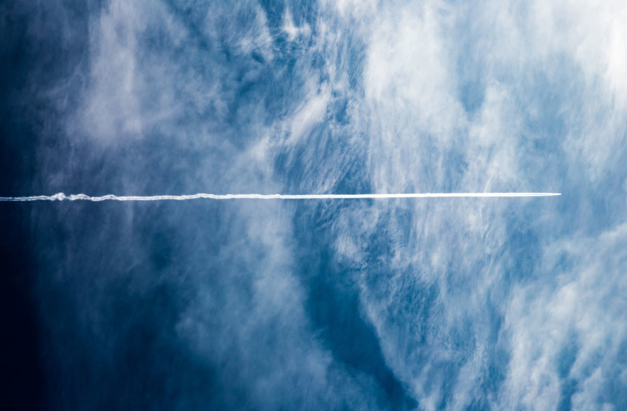 Beautiful stock photos of airplane, vapor trail, sky, white, day