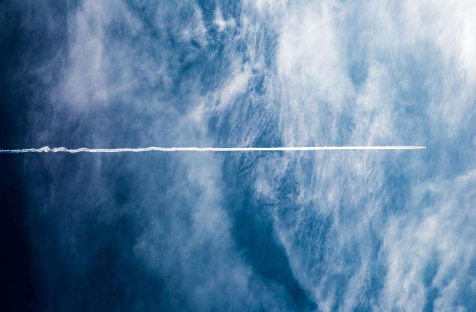 Beautiful stock photos of airplane, vapor trail, sky, white, day