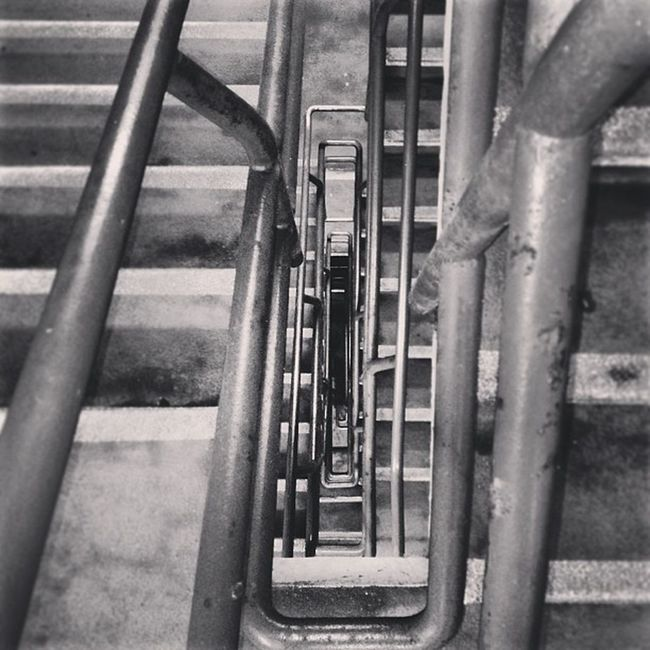 Heading to the Abyss Lookdown Carpark Steel Unitedkingdom Blackandwhite Winding Bedfordshire Stairs Dingy Concrete Abyss Black Littlelight Dark Gruby Dirty Uk Metal Bedford Spiral