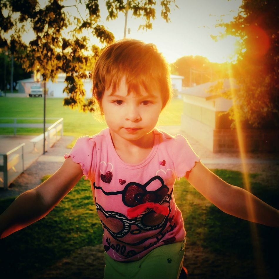 Golden Hour Sunshine Beautiful Lighting Practicing Photography Flash Photography Candid Shot A Day In The Life Playground Candid Portrait Glitch Devineliving Front View EyeEm Best Shots