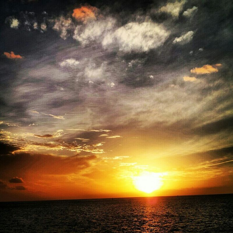 Clouds Water Sunset Sky Enjoying The Sun Sunlight Clouds And Sky Ocean Sky_collection