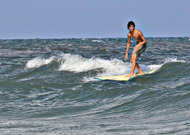 Longboard Ocean Summer South Carolina Long Boarder Surfer Teen Small Waves Boys Surfers