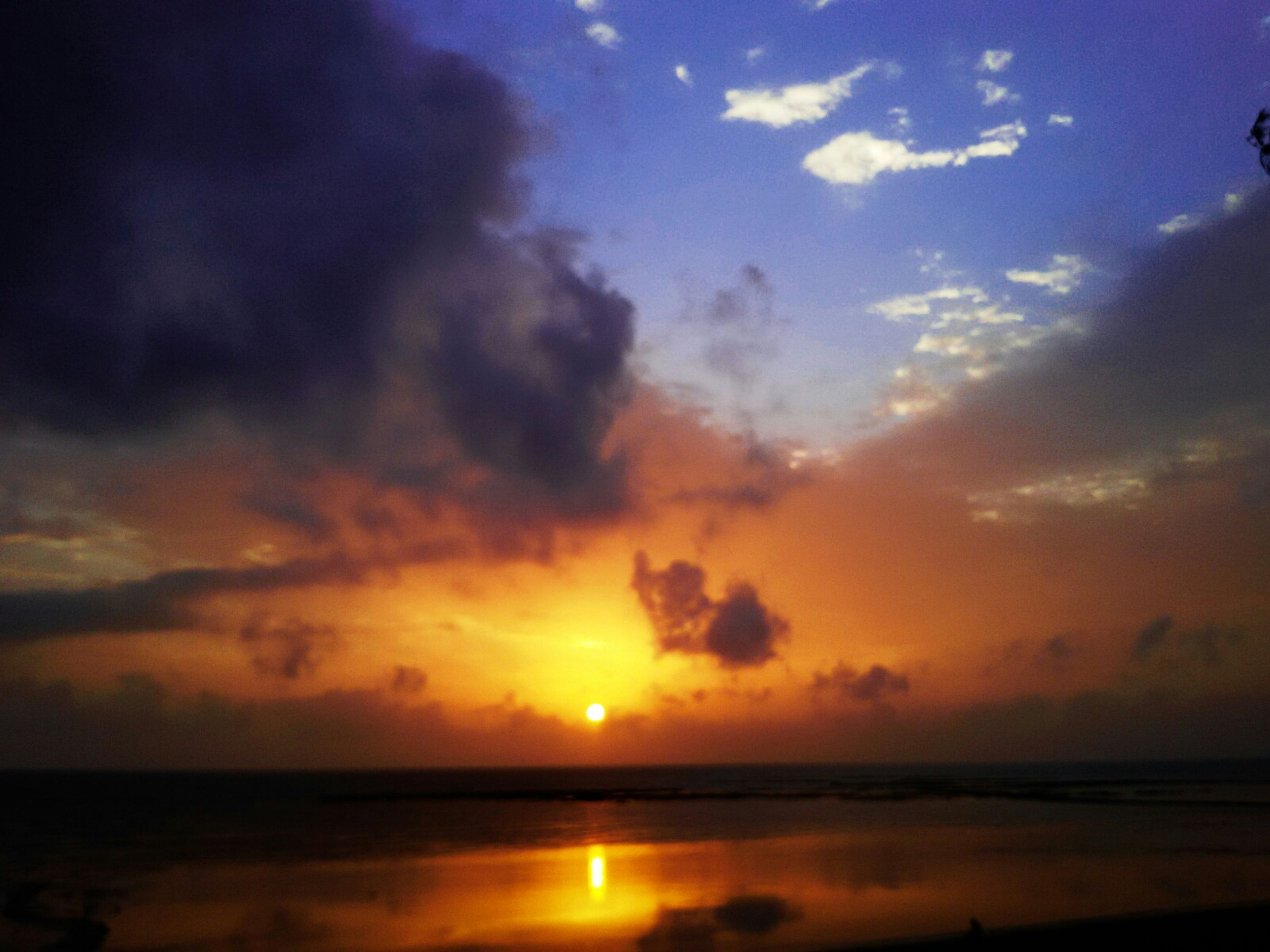 sunset, water, sea, scenics, orange color, sky, horizon over water, tranquil scene, sun, beauty in nature, tranquility, reflection, idyllic, beach, cloud - sky, nature, cloud, shore, silhouette, dramatic sky