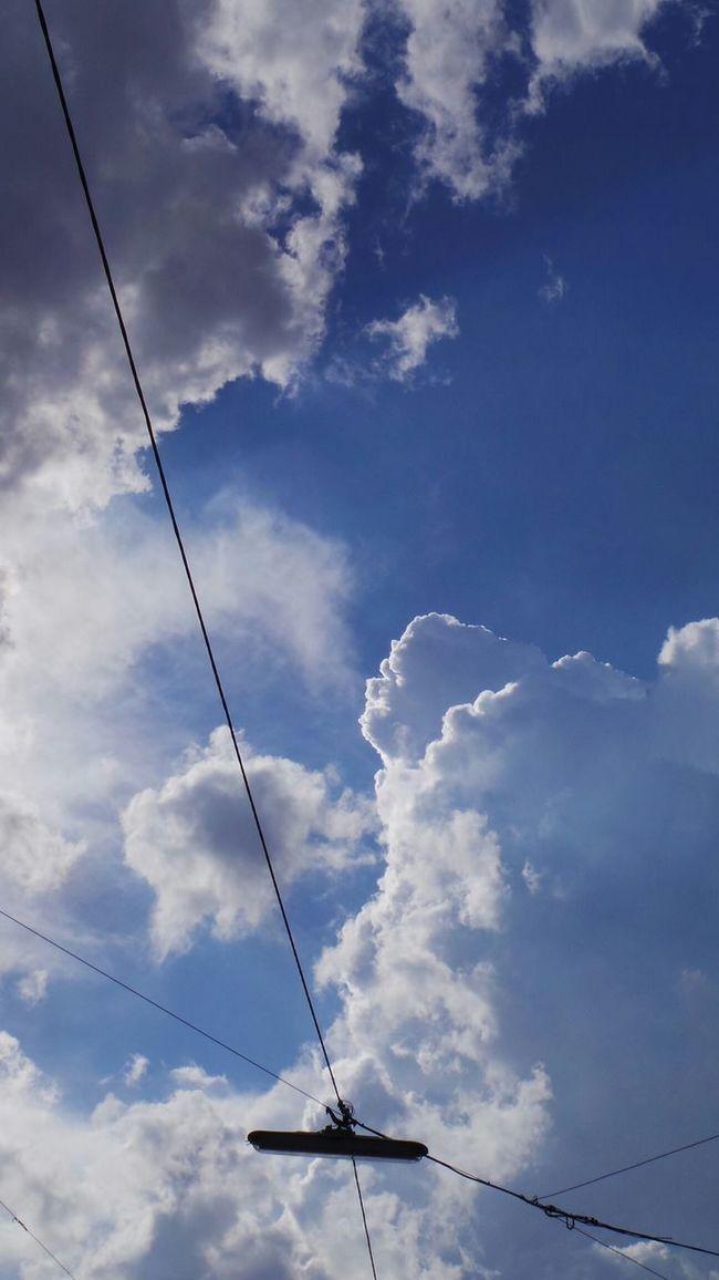 Himmel Mit Stromleitung First Eyeem Photo Sky Clouds