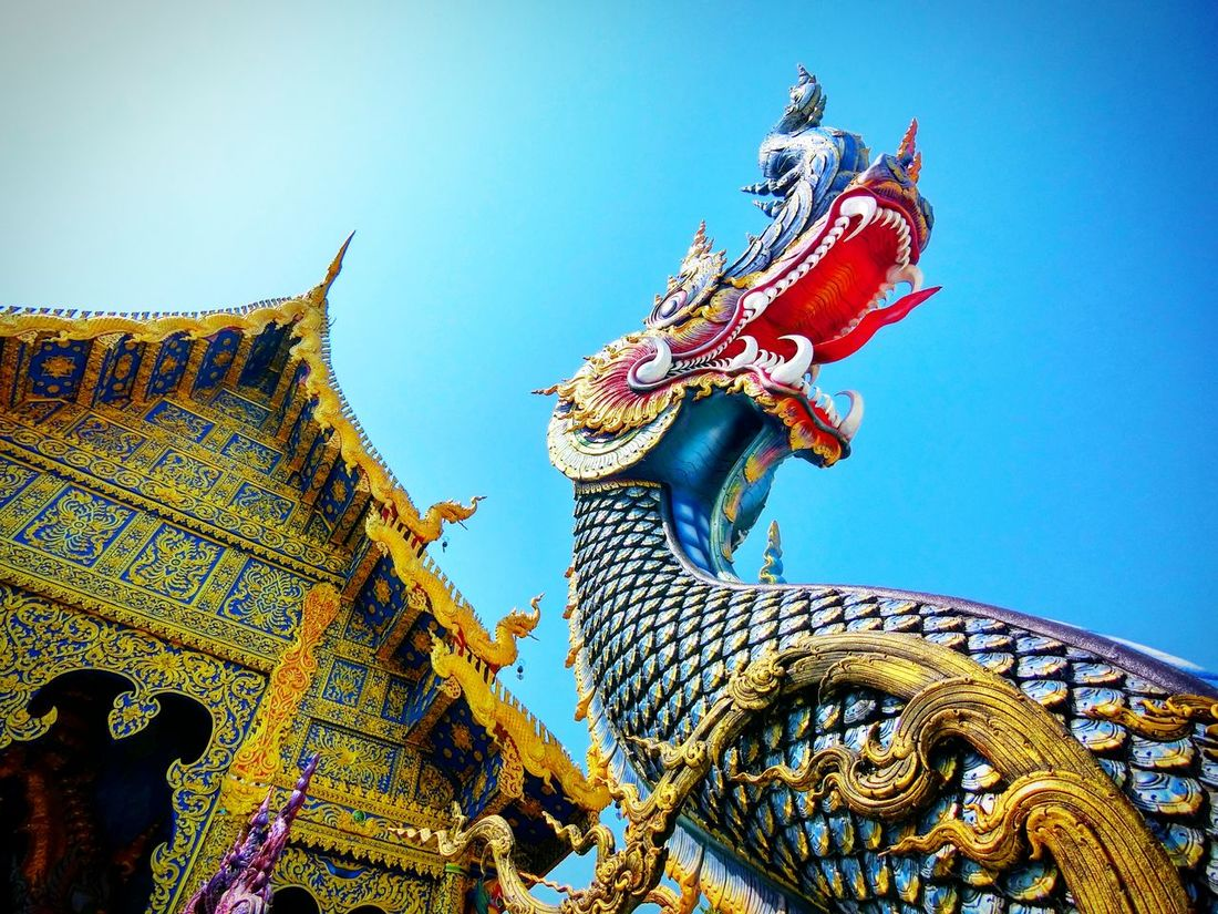Multi Colored Statue Sculpture War Mythology Outdoors No People Architecture Day Thailand Temple Thai Architecture Thaistyle Thai Art