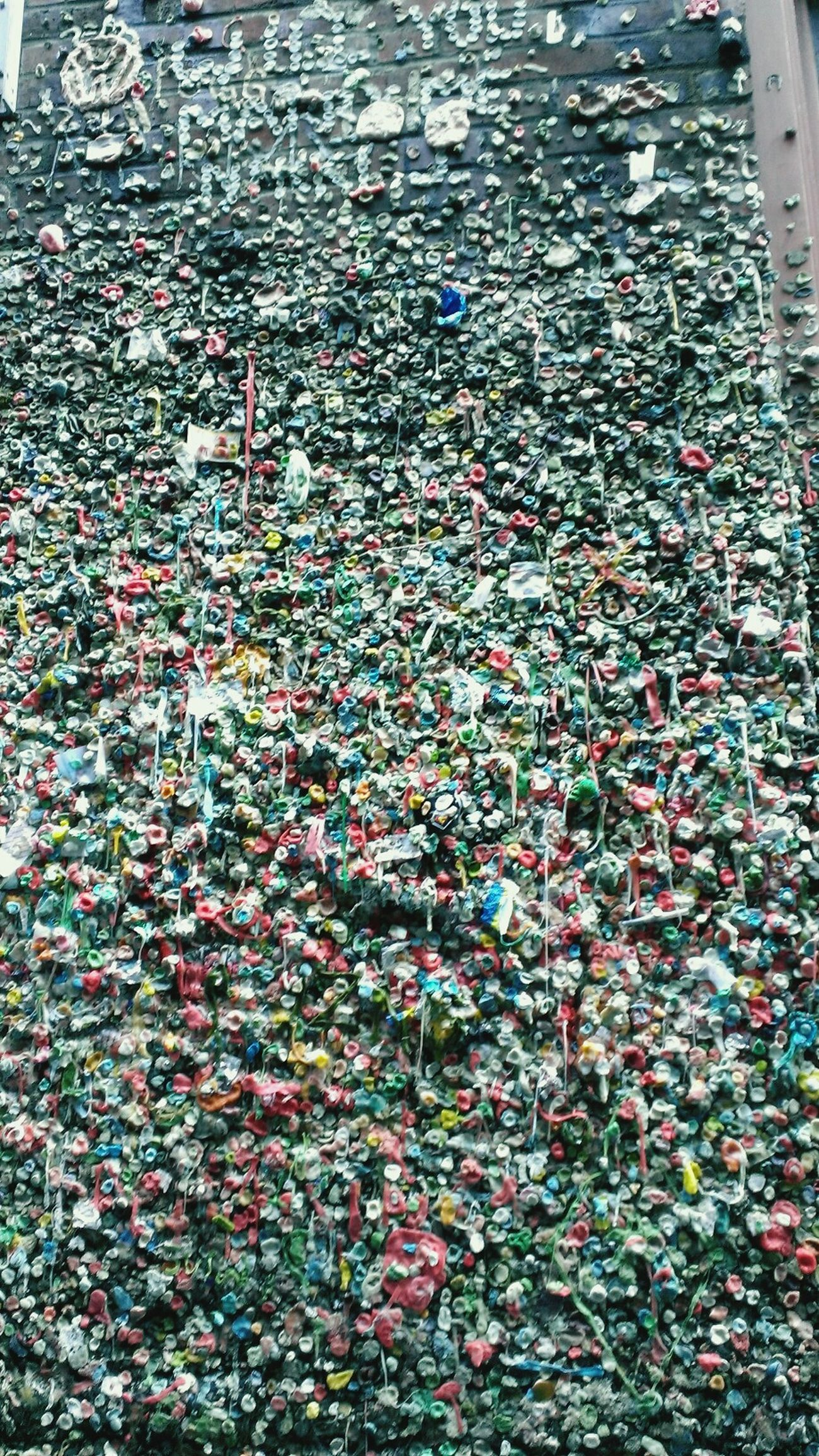 Seattle Adventure w/Dan..his pic. Gumwall So Many Memories Smiles