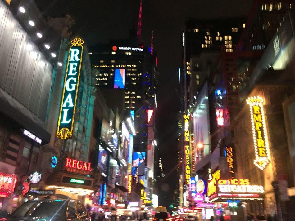 Cities At Night New York At Midnight