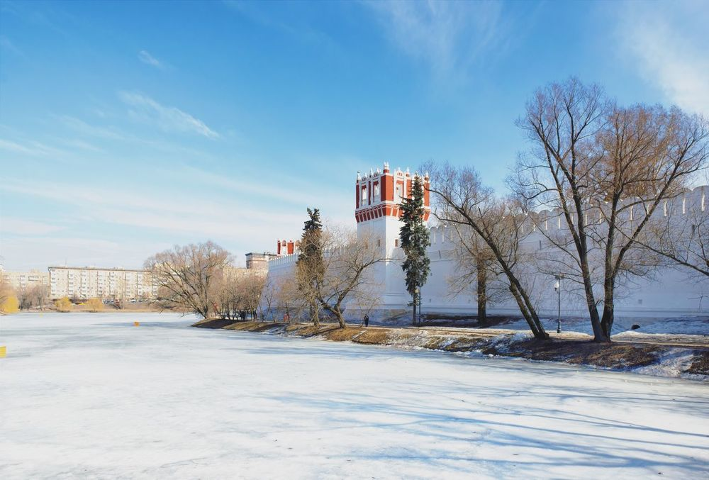 Moscow, Москва Architecture Architecturelovers Novodevichy Monastery Snow Sunny Day