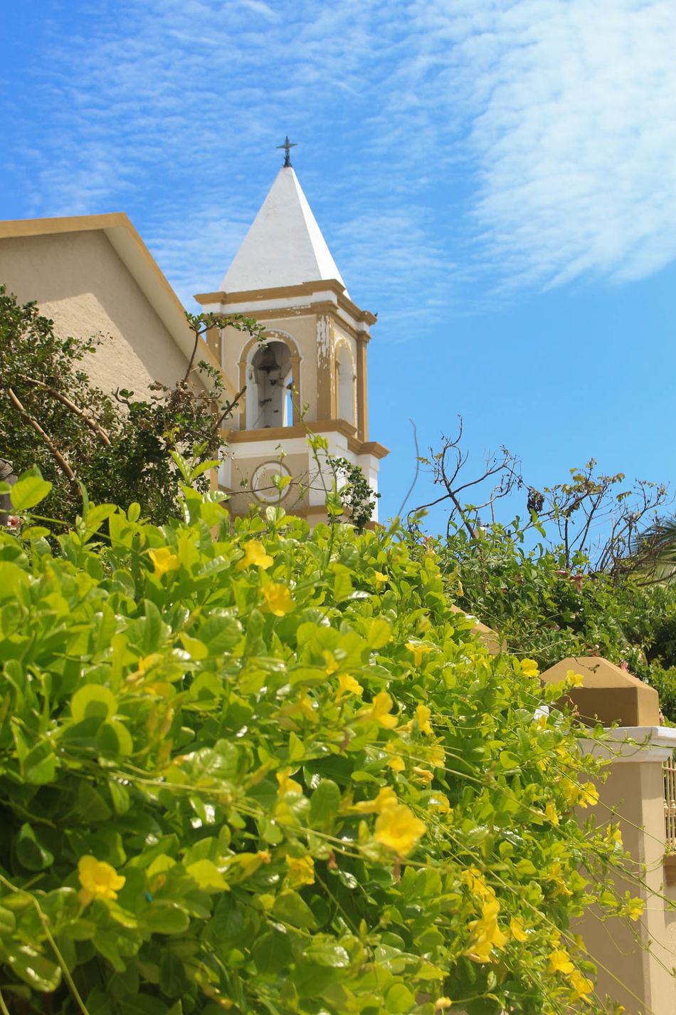 Iglesia San José del Cabo Architecture Blue Sky Built Structure Clouds Day Green Color Los Cabos Mexico No People Outdoors Religion San José Del Cabo Sky Vacations Visit Mexico